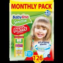 Πάνες Βρακάκι Babylino Pants No7 Monthly Pack 126τμχ (17+Kg)