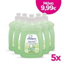 Proderm Υγρό Πιάτων για Μωρά με Πράσινο Σαπούνι 5x500ml