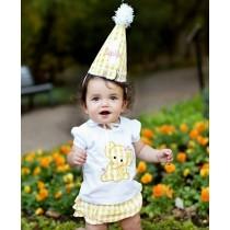 RuffleButts Παιδική Μπλούζα Λευκή με Ελεφαντάκι, 6-12 μηνών