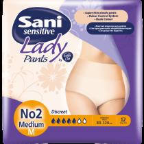 Sani Lady Discreet Pants No2 Μedium 12τμχ