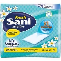 Υποσέντονα Ακράτειας Sani Sensitive Fresh Maxi Plus 15τμχ (90x60cm)