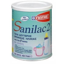 Sanilac No2 Γάλα 2ης Βρεφικής Ηλικίας (6-12 Μηνών) 400gr