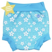 Splash About Μαγιό-Πάνα Happy Nappy Μπλε Λουλουδάκια Blue Blossom