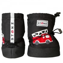 Stonz Μαλακά Μποτάκια Booties Fire Truck Black Small