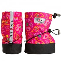 Stonz Μαλακά Μποτάκια Booties Paisley Pink Large