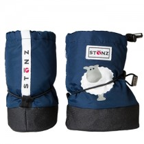 Stonz Μαλακά Μποτάκια Booties Sheep Navy Blue Small