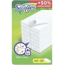 Swiffer Ανταλλακτικά Πανάκια που Παγιδεύουν τη Σκόνη (40+20τμχ ΔΩΡΟ)
