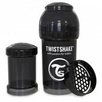 Twistshake Μπιμπερό Κατά των Κολικών 180ml Μαύρο