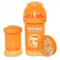 Twistshake Μπιμπερό Κατά των Κολικών 180ml Πορτοκαλί