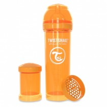 Twistshake Μπιμπερό Κατά των Κολικών 330ml Πορτοκαλί