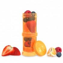 Twistshake Δοχείο Αποθήκευσης 2x100ml Πορτοκαλί