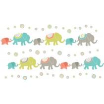 WallPops Αυτοκόλλητα Τοίχου Ινδικοί Ελέφαντες