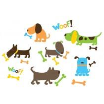 WallPops Αυτοκόλλητα Τοίχου Σκυλάκια