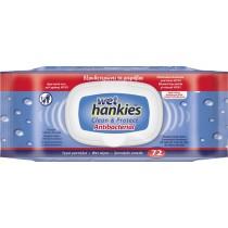 Wet Hankies Αντιβακτηριδιακά Μαντηλάκια 72τμχ με Καπάκι