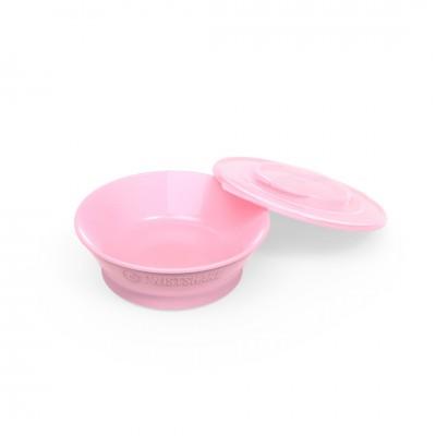 Twistshake Μπολ Φαγητού Αντιολισθητικό  6+μηνών Pastel Pink
