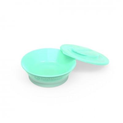 Twistshake Μπολ Φαγητού Αντιολισθητικό  6+μηνών Pastel Green