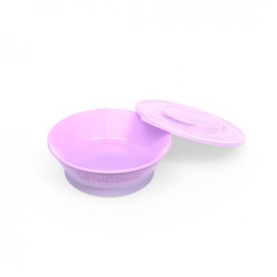 Twistshake Μπολ Φαγητού Αντιολισθητικό 6+μηνών Pastel Purple