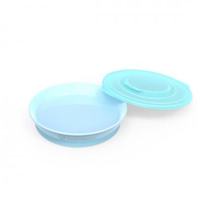 Twistshake Πιάτο Φαγητού Αντιολισθητικό 6+μηνών Pastel Blue