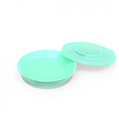 Twistshake Πιάτο Φαγητού Αντιολισθητικό 6+μηνών Pastel Green