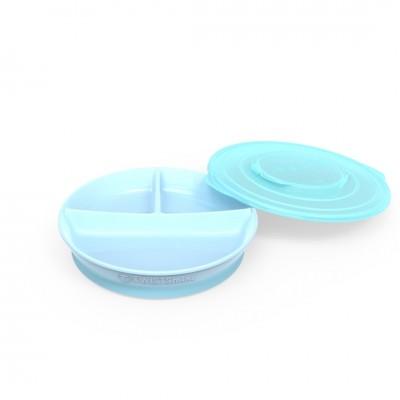 Twistshake Πιάτο με Χωρίσματα Αντιολισθητικό 6+μηνών Pastel Blue