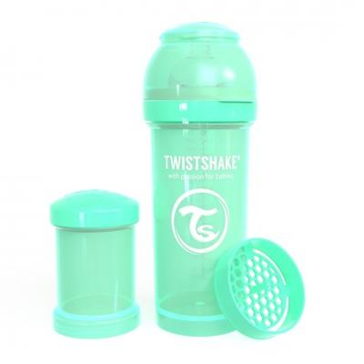 Twistshake Μπιμπερό Κατά των Κολικών 260ml Pastel Green