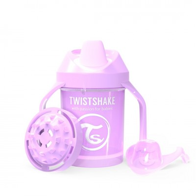 Twistshake Κύπελλο Mini Cup 230ml 4+μηνών Pastel Purple με Μίξερ Φρούτων