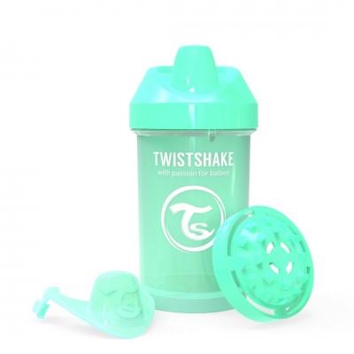 Twistshake Κύπελλο Crawler Cup 300ml 8+μηνών Pastel Green με Μίξερ Φρούτων