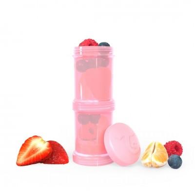 Twistshake Δοχείο Αποθήκευσης 2x100ml Pastel Pink