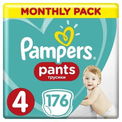 Πάνες Βρακάκι Pampers Pants Νο 4 Monthly Box 176τμχ (9-14kg)