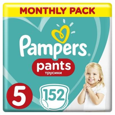 Πάνες Βρακάκι Pampers Pants Νο 5 Monthly Box 152τμχ (12-18kg)