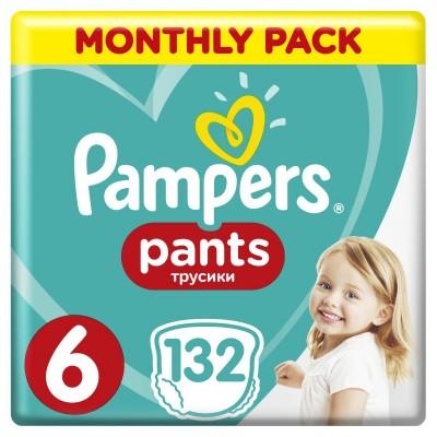 Πάνες Βρακάκι Pampers Pants Νο 6 Monthly Box 132τμχ (16+kg)