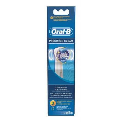 Oral B Ανταλλακτικά Ηλεκτρικών Επαναφορτιζόμενων Οδοντόβουρτσων Precision Clean 2τμχ