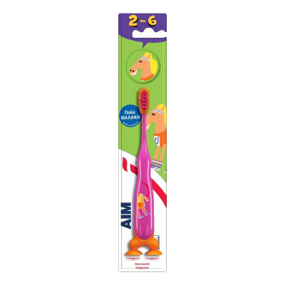 AIM Παιδική Οδοντόβουρτσα 2-6 Ετών Ροζ