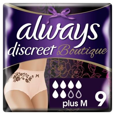 Always Discreet Boutigue Εσώρουχα Για Την Ακράτεια Plus Medium 9τεμ