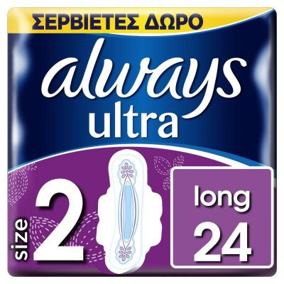 Always Σερβιέτα Ultra Long Plus Trio 24τμχ