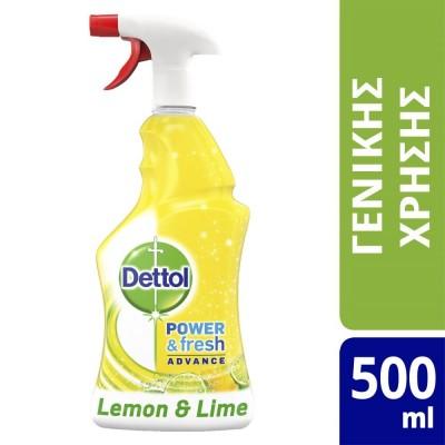 Dettol Αντιβακτηριδιακό Καθαριστικό Spray Λεμόνι & Λαϊμ 500ml