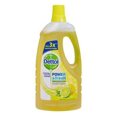 Dettol Καθαριστικό Πατώματος Αντιβακτηριδιακό Λεμόνι 1lt