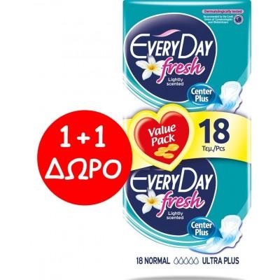EveryDay Σερβιέτες Fresh Ultra Plus Normal 18τεμ