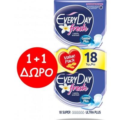 EveryDay Σερβιέτες Fresh Ultra Plus Super 18τεμ