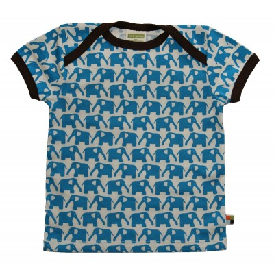Loud+Proud Κοντομάνικο Μπλουζάκι από Οργανικό Βαμβάκι Μπλέ 18-24 μηνών