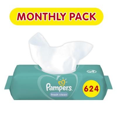Μωρομάντηλα Pampers Fresh 624τμχ (12x52τμχ)