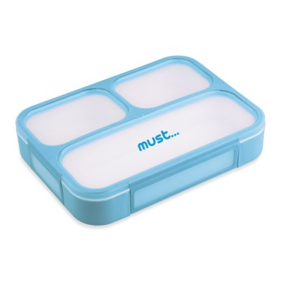 Must Αεροστεγές Δοχείο Φαγητού με Χωρίσματα 1lt Μπλε