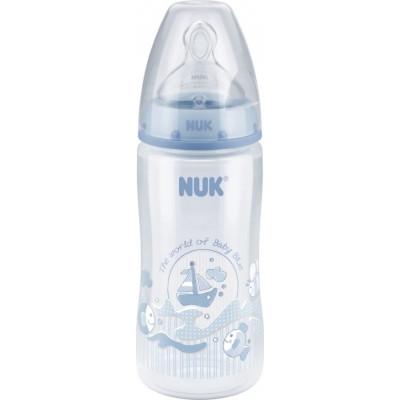 NUK Μπιμπερό First Choice Blue με Θηλή Σιλικόνης 300ml