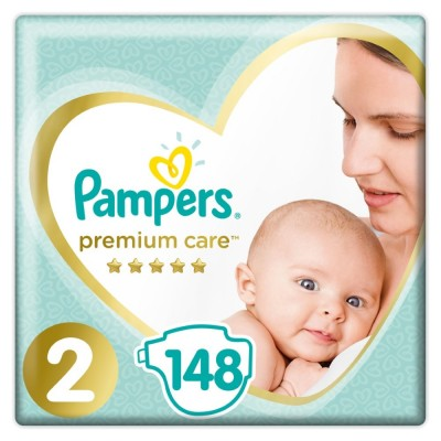 Πάνες Pampers Premium Care Νο 2 Mega Box 148τμχ (3-6kg)