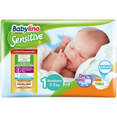Πάνες Babylino Sensitive No1 (2-5Kg) Carry Pack 28τμχ