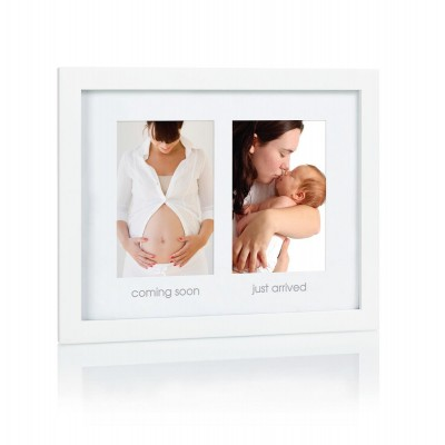 Pearhead Διπλή Κορνίζα Pregnance Newborn Λευκή