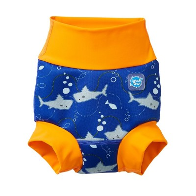 Splash About Μαγιό-Πάνα Happy Nappy Shark Orange