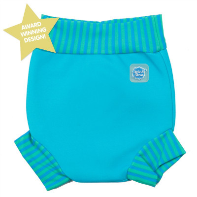 Splash About Μαγιό-Πάνα Happy Nappy Turquoise με Blue 3-8 μηνών