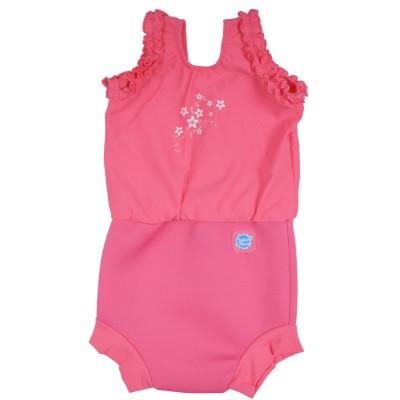 Splash About Ολόσωμο Μαγιό-Πάνα Happy Nappy Pink Blossom