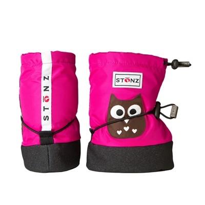 Stonz Μαλακά Μποτάκια Booties Owl Fuchsia